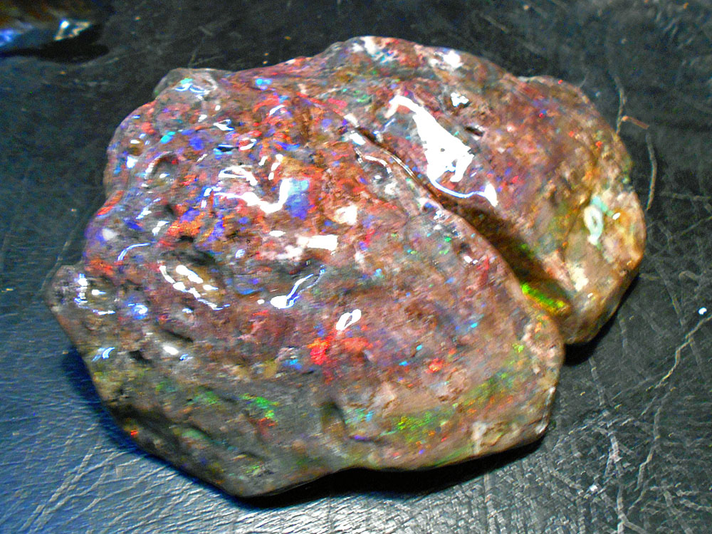 Huge 2 piece brain-like piece of Andamooka Matrix opal.   Was shown to me by miner...if interested I can check on price.