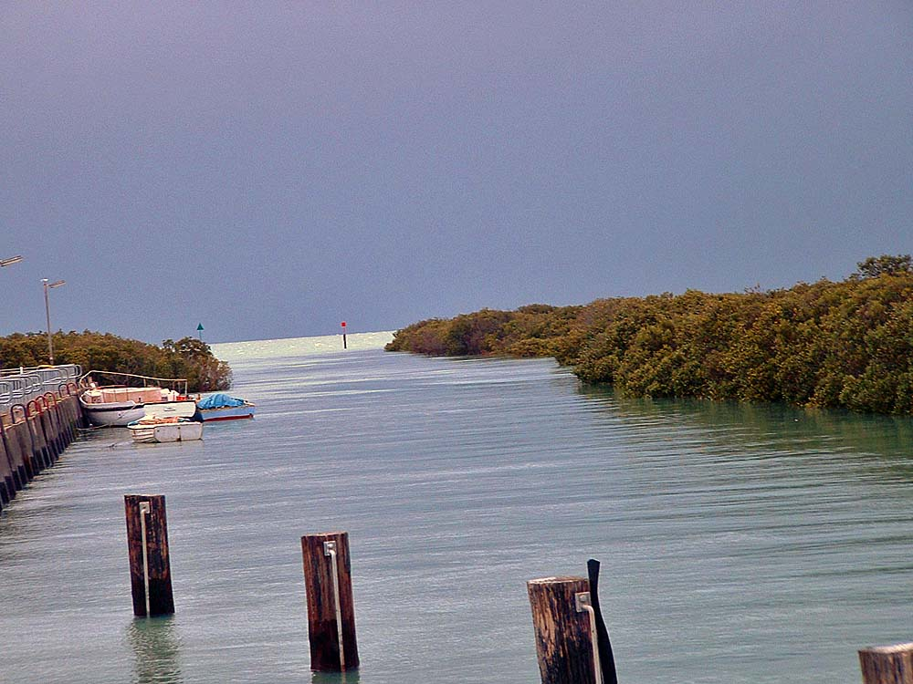 Watched the sky darken, with an approaching storm, from the boat launch on Gulf St. Vincent near the Port Wakefield Caravan Park where I spent the night.