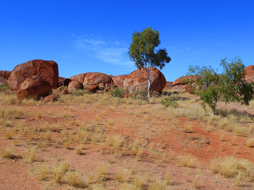 On my travels in the Northern Territory I stopped to see The Devils Marbles, near Wycliffe Well NT, known as Karlu Karlu by the aborigines.