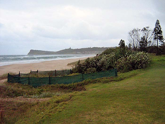 Stormy weather the night before produced heavy surf at Lennox Head New South Wales.