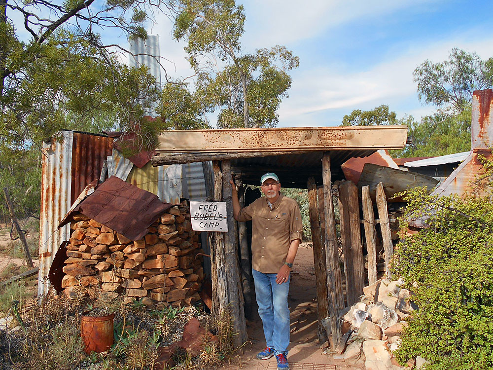 The humble dwelling of Fred Bodel's...said to be the oldest opal mining camp in Lightning Ridge.