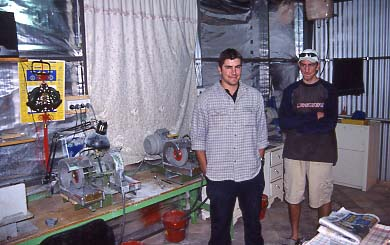 Triplet makers Sam and Tim Seekamp in their shop.