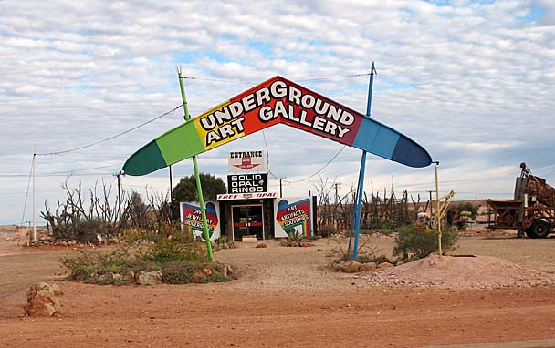 Another unique opal shop along Hutchison Street in Coober Pedy.