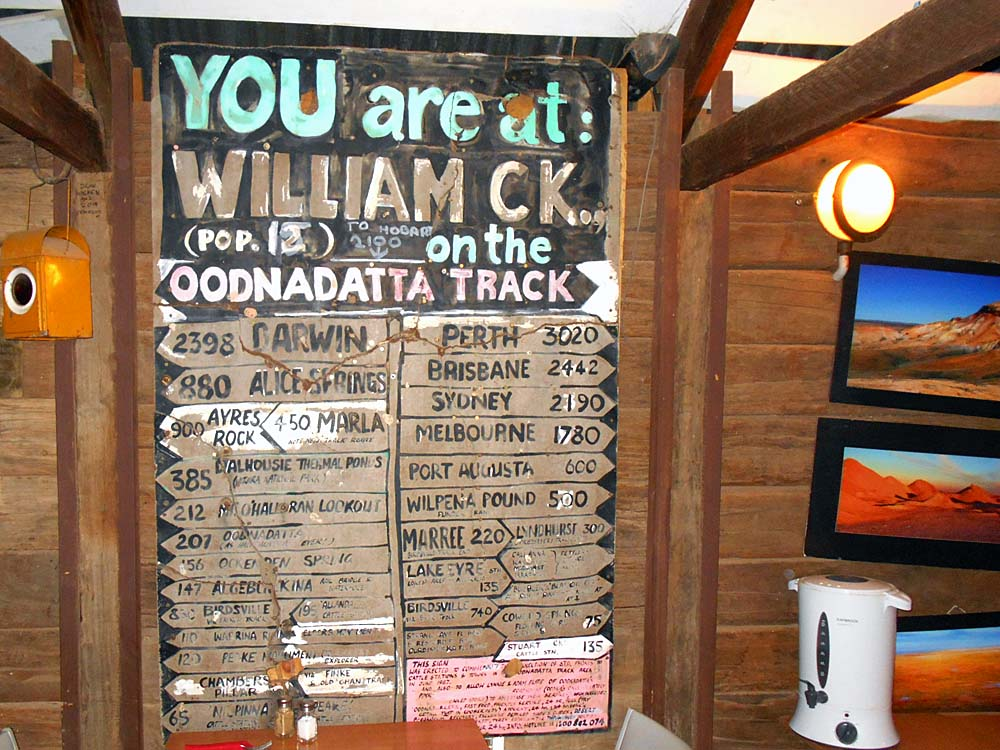 Inside the William Creek Pub where enjoyed supper and a brief respite from all the driving on the Mail Run Tour.  I had a goat curry...not bad, but on the mild side...I prefer a bit more curry.